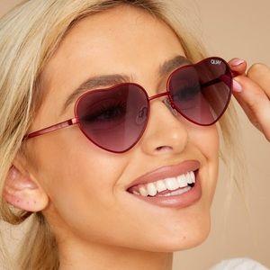 Quay Kim heart sunglasses
